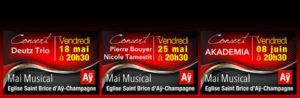 Mai Musical - du 08 mai au 08 juin @ Eglise Saint Brice d'Aÿ-Champagne | Ay | Grand Est | France