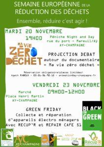Semaine Européenne Réduction des déchets- 20 et 23 Novembre